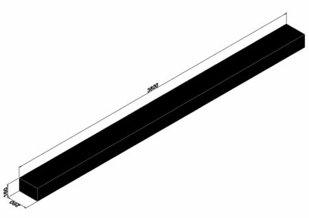 3,8 méter hosszú vasúti talpfa